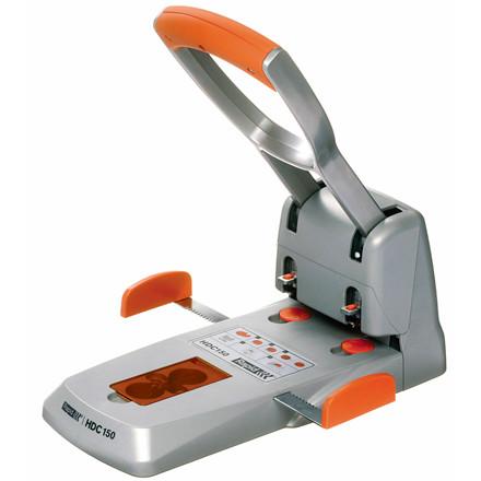 Rapid hulmaskine HDC - 150/2 i sølv og orange huller op til 150 ark