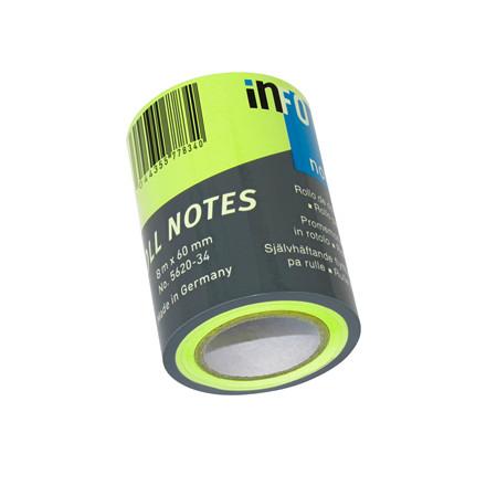 Refill notes Info t/notesdisp. brlliant grøn 60mmx10m/stk