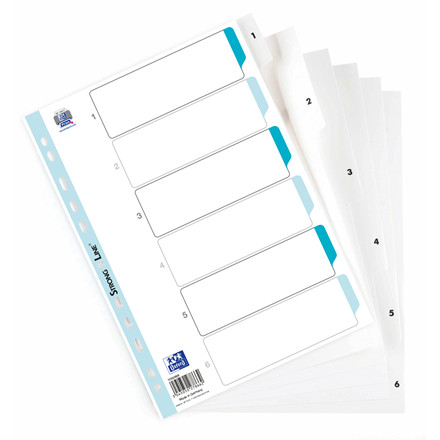 Register ELBA Strong-Line A4 1-6 hvid 0,12mm