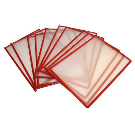 Registerlommer A4 BNT QuickLoad rød - 10 stk i pakke