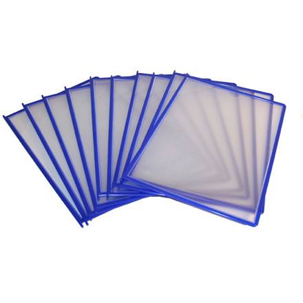 Registerlommer A5 BNT QuickLoad blå - 10 stk i pakke