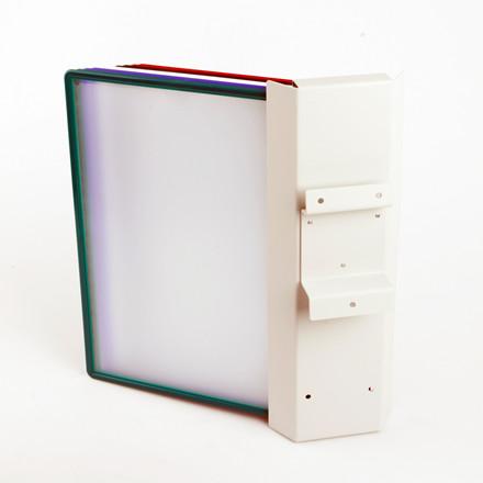 Vægholder til A4 registerlommer BNT Superior til 10 lommer - Lysegrå
