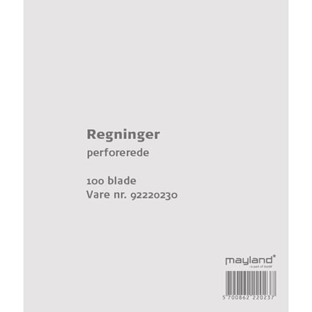 Regningsblok 126 x 148 mm 92220230 - 100 blade