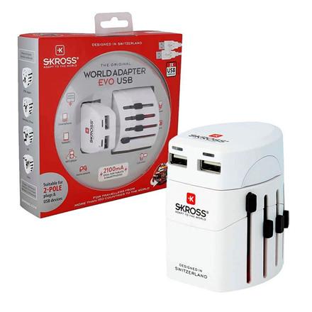 Rejseadapter SKROSS World Pro Dual USB