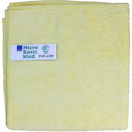 Rengøringsklud, Abena Puri-Line Basic, 32x32cm, gul, mikrofiber