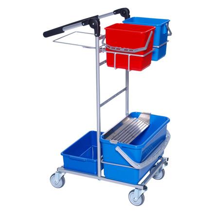 Rengøringsvogn, Mini Ergo, Indeholder: spandeholder lille, sækkeholder 60 ltr., mopholder, spandhold