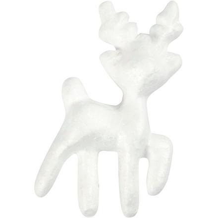 Rensdyr Højde 11,5 cm hvid - 5 stk.