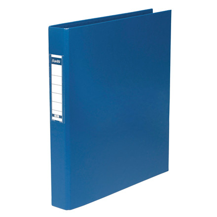 Ringbind plast A4 blå 25mm m/etiket 1300