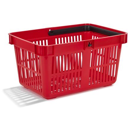 Rød indkøbskurv 27 liter - Nordiska Plast