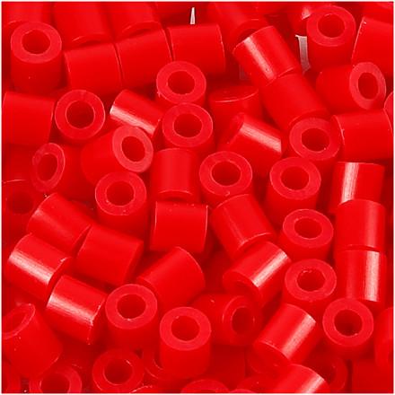 Rørperler rød (57) størrelse 5 x 5 mm - hulstr. 2,5 mm - medium - 1100 stk.