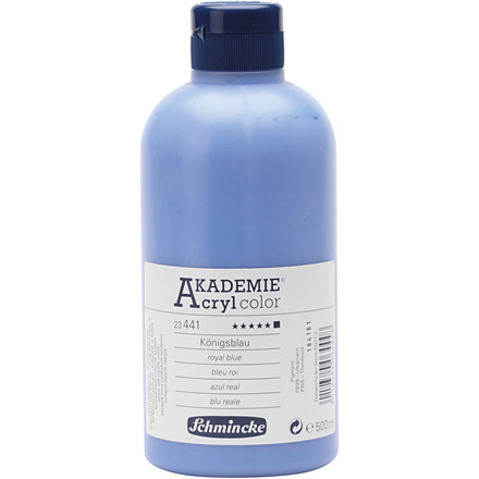 Royal blue (441) Schmincke AKADEMIE® Acryl color, opaque , extremely light fast , 500ml