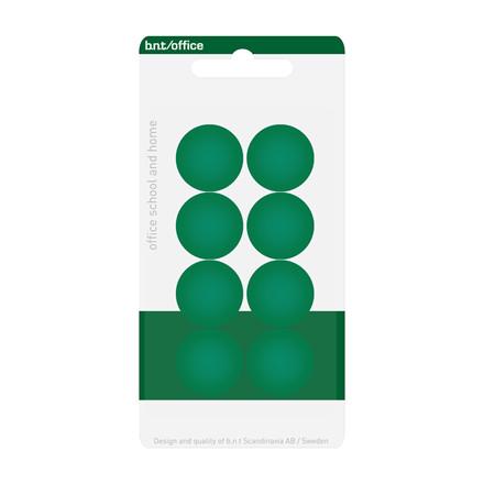 Runde Magneter - BNT grønne med en diameter på 2 cm - 8 stk.