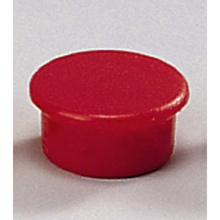 Runde magneter - Dahle 13 mm rød - 10 stk.