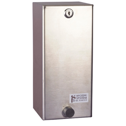 Sæbedispenser stålgrå til refill - 1000 ml