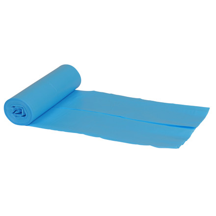 Sække, LDPE, blå, 55 my, 76x103 cm, 120 l, 10stk/rl.