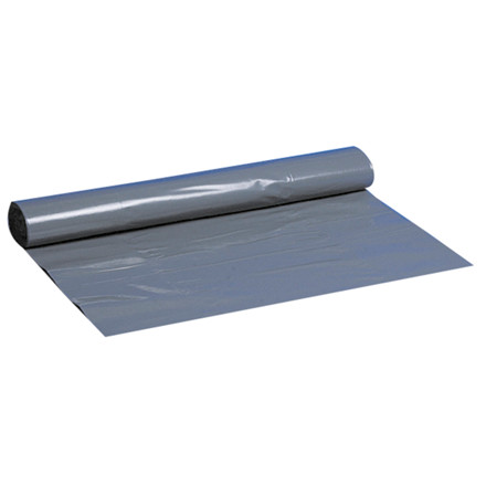 Sække, LDPE, grå, 55 my, 55x80 cm, 40L, 10stk/rl.