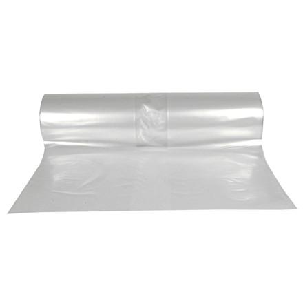 Sække, LDPE, transparent, 50 my, 130x185 cm, 645 l, 50stk/rl.