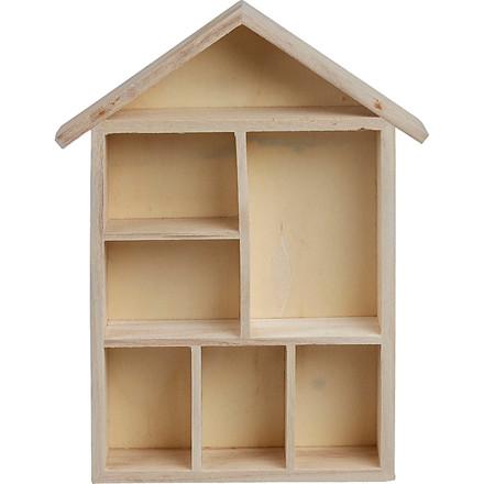 Sættekasse hus størrelse 30 x 22 x 4,5 cm | kejsertræ