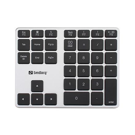 Sandberg Bluetooth Numeric Keypad Alu, White/Black