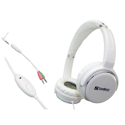Sandberg Home'n Street Headset, White