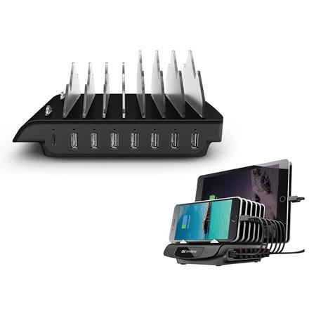 Sandberg Multi USB Charging Station, Black