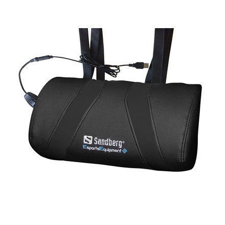 Sandberg USB Massage Pillow, Black