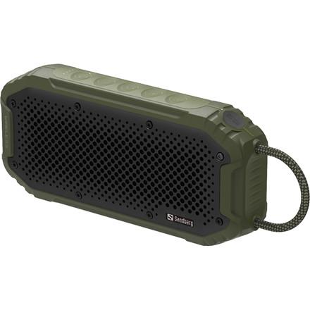 Sandberg Waterproof Bluetooth Speaker, Green/Black