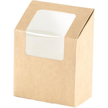 Sandwich æske til wraps PLA - 90 x 50 x 130 mm - 1000 stk.