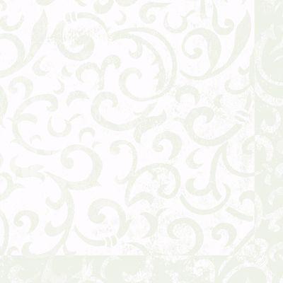 Sarala, Dunilin, 1/4 fold, design, hvid, 40cm x 40cm