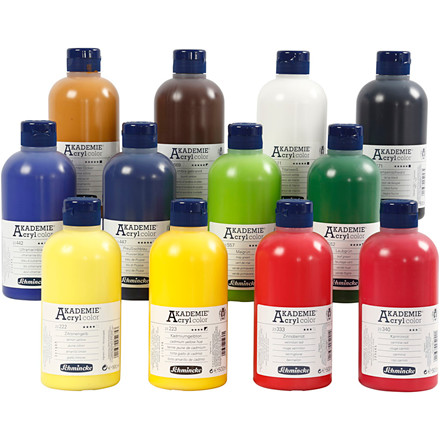 Schmincke AKADEMIE® Acryl color, 12x500ml