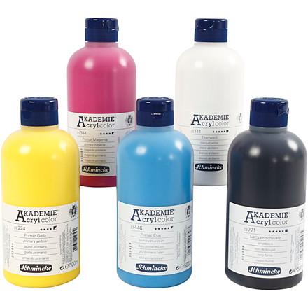 Schmincke AKADEMIE® Acryl color, 5x500ml