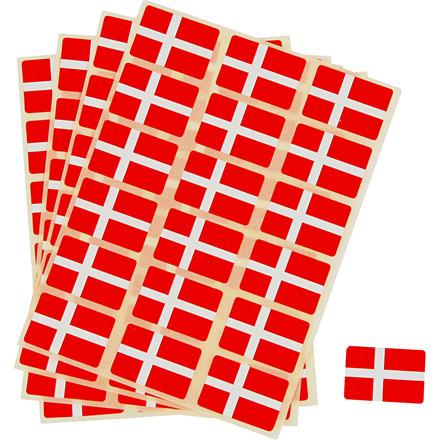 Selvklæbende flag, str. 15x22 mm, Danmark, 72stk.