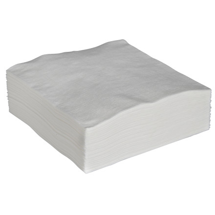 Serviet, 1-lags, 1/4 fold, økonomi, hvid, papir, 33cm x32cm