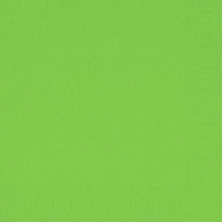 Serviet herbal grøn, Duni, 3-lags, 1/4 fold, grøn, papir, 33cm x 33cm
