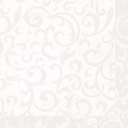 Serviet sarala hvid, Dunilin, 1/4 fold Design, hvid, 48cm x 48cm