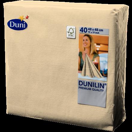 Servietter Dunilin buttermilk 48 x 48 cm - 40 stk.