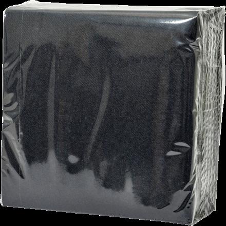 Servietter sort - 40 x 40 cm - Soft airlaid - 60 stk. i en pakke