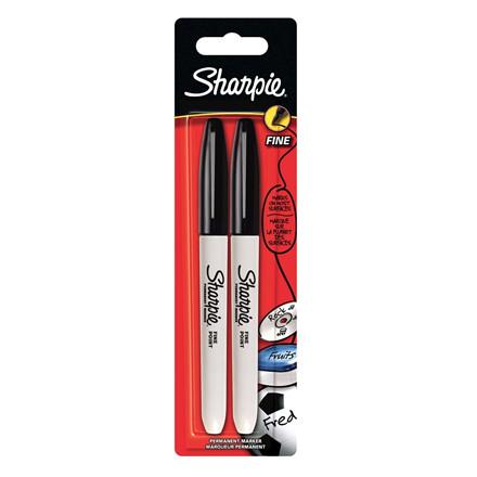 Sharpie Marker Sort - Sæt med 2 stk