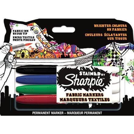 Sharpie Stained Permanet Marker - Tekstilmarker Sæt med 4 farver