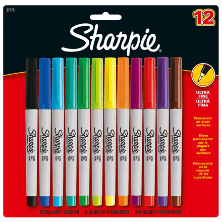 Sharpie Ultra Fine Point Permanent Markers - Sæt med 12 stk