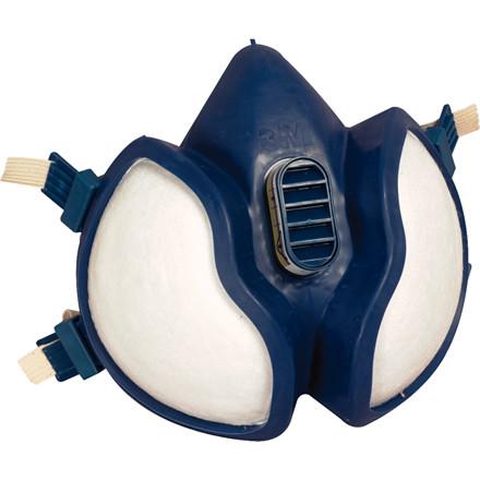Sikkerhedsmaske, 3M, FFABE1P3D/4277, med ventil, blå, one size