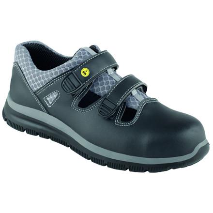 Sikkerhedssko, 36, 12cm, sort, læder/mikrofiber, EN ISO 20345:2011S + C + SRC, flergangs