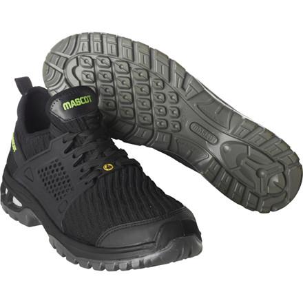 Sikkerhedssko, Mascot Footwear Energy, 45, sort, Tekstil, S1P, SRC, ESD, med snørebånd, stigegreb, metalfri, herre