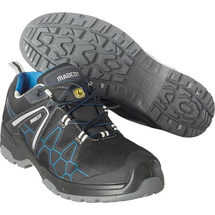 Sikkerhedssko, Mascot Footwear Flex, 42, sort, nylon, S1P, SRC, ESD, med snørebånd, stigegreb, metalfri, herre