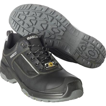 Sikkerhedssko, Mascot Footwear Flex, 48, sort, fuldnarvet bøffellæder, S1P, SRC, ESD, med snørebånd, stigegreb, metalfri, herre
