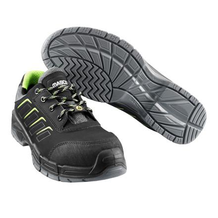Sikkerhedssko, Mascot Mont Blanc, 39, sort, læder, S3, SRC, ESD, med snørebånd, stigegreb, metalfri, herre