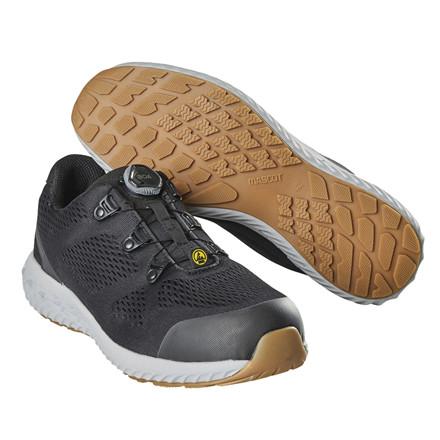 Sikkerhedssko med Boa lukning, Mascot Footwear Move, 47, 10cm, sort, S1P, ESD godkendt, Ultra Slip Resistant Sole