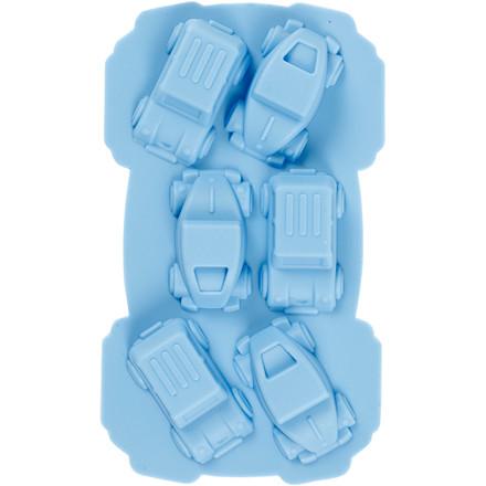 Silikoneform, hulstr. 30x45 mm, 12,5 ml, lys blå, biler, 1stk.