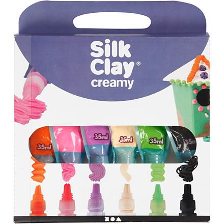Silk Clay® Creamy  6 x 35 ml | assorteret farver