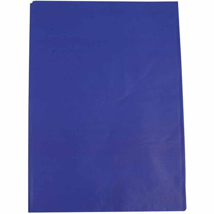 Silkepapir, ark 50x70 cm, 14 g, blå, 25ark